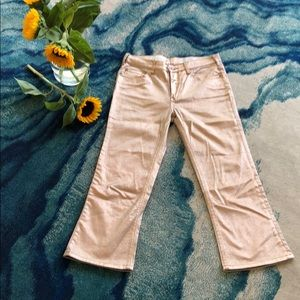 Pilcro rose gold high rise flare jeans
